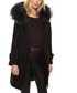 Naiara black wool blend & fur trim coat Sale - giorgio & mario Sale