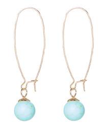 14k gold filled turquoise hoop earrings