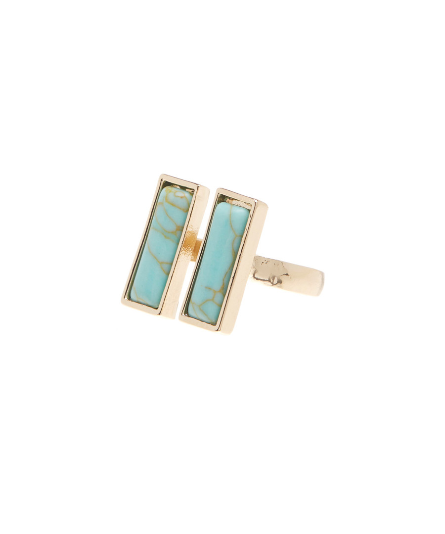 double gemstone bar open ring Sale - flint and mortar