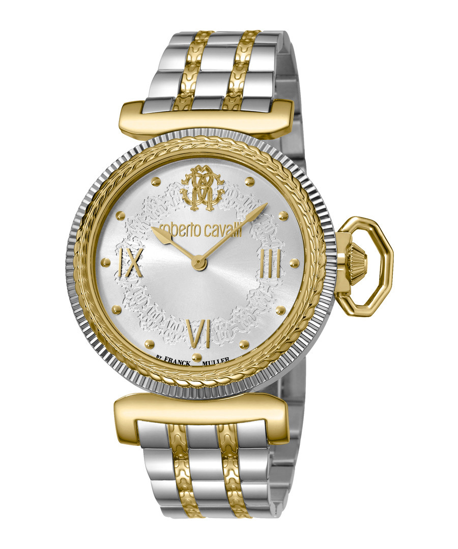 Two-tone stainless steel link watch Sale - roberto cavalli by franck muller