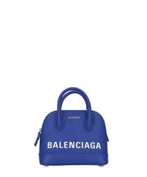 Blue leather logo grab bag