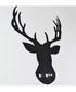 Black metal stag silhouette wall art Sale - homemania Sale