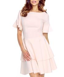 Light pink tiered ruffle dress