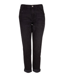 The Fling black cotton cropped jeans