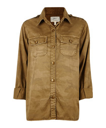 The Perfect khaki pure cotton shirt