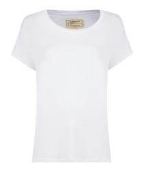 The Crew Neck white pure cotton shirt