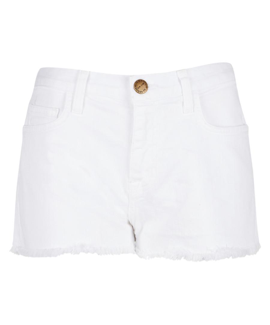 The Boyfriend white cotton denim shorts Sale - Current Elliott