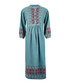 The Embroidered Dress teal cotton dress Sale - Current Elliott Sale