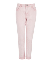 The Fling pink cotton cropped jeans