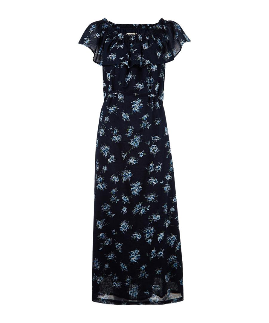 The Ruffle floral pure cotton maxi dress Sale - current elliot