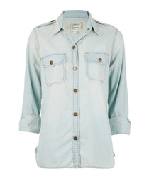 The Perfect light-wash pure cotton shirt