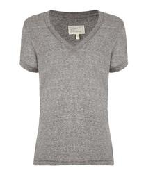 The V-Neck grey pure cotton T-shirt