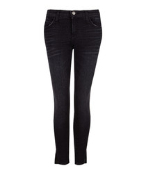 The Stiletto black mid-rise skinny jeans