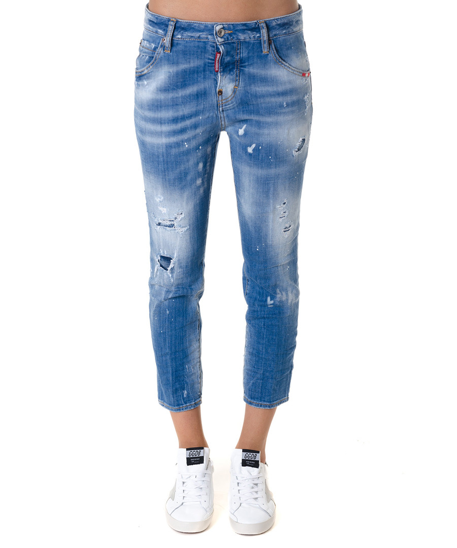 Cool Girl cotton blend crop jeans Sale - dsquared2