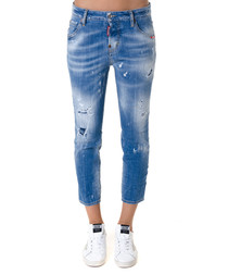Cool Girl cotton blend crop jeans