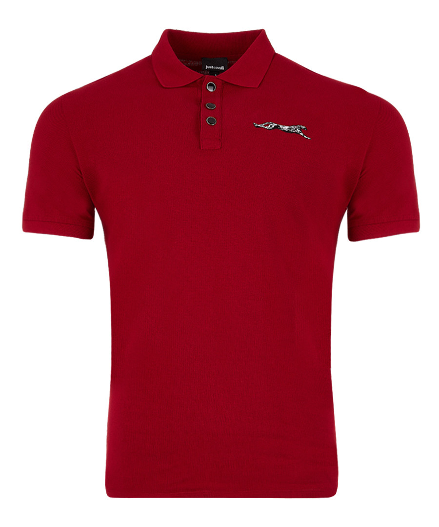 Red cotton logo polo shirt Sale - just cavalli