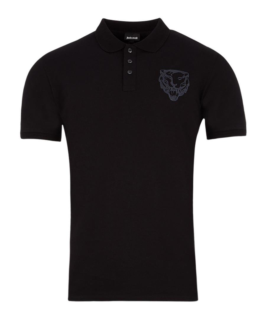 Black cotton head logo polo shirt Sale - JUST CAVALLI