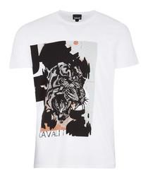 White pure cotton tiger T-shirt