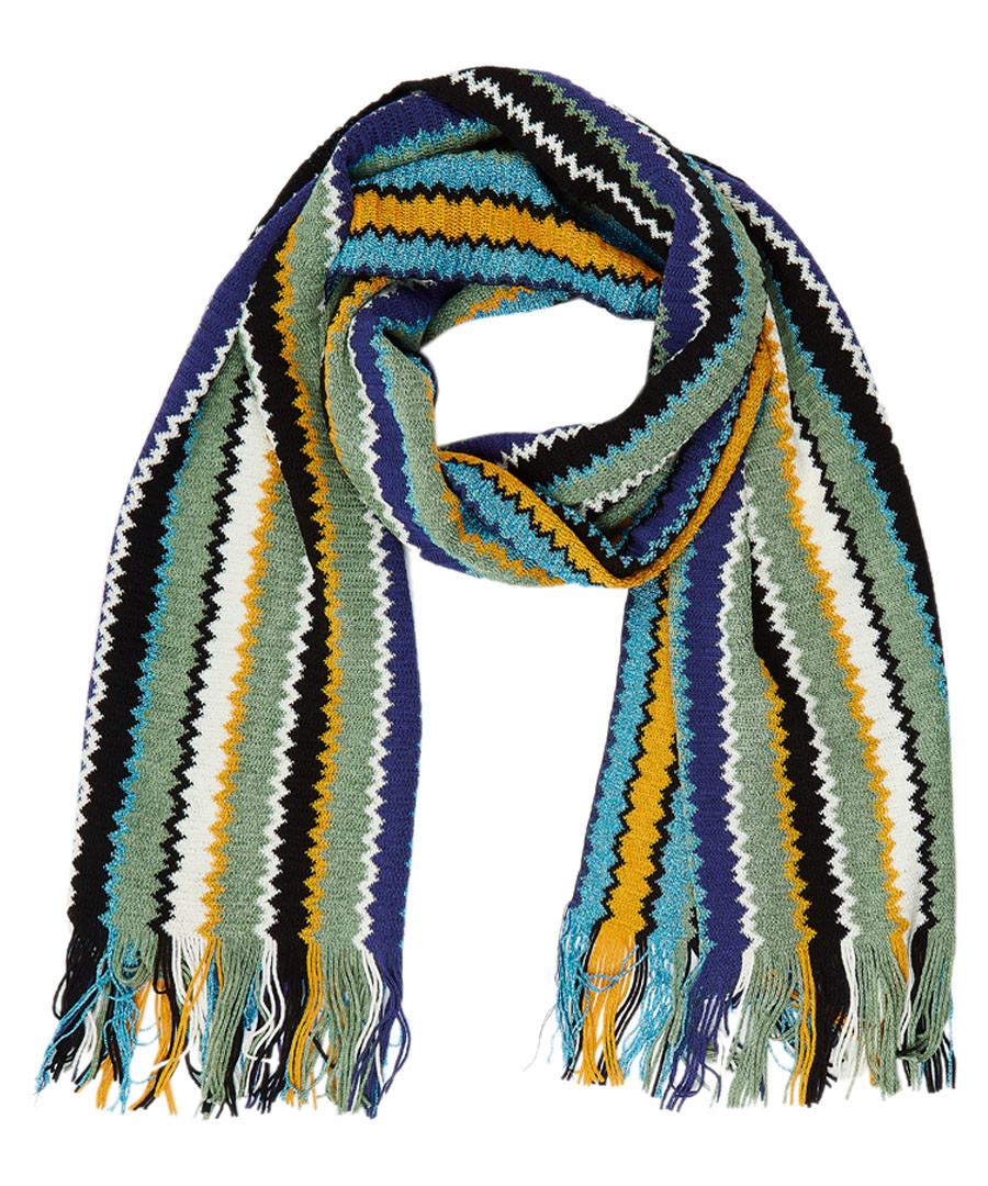 Multi-colour wool blend bars scarf Sale - missoni