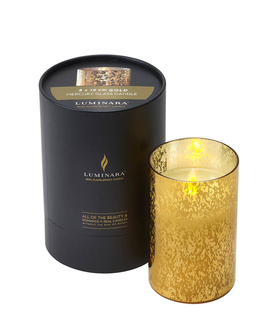 Gold jar candle 18cm Sale - luminara
