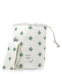 Cactus print cosmetics bag