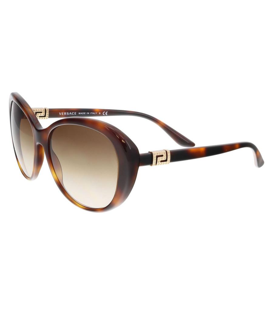 Havana & brown gradient sunglasses Sale - versace