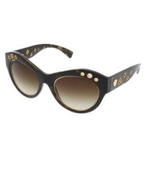 Havana & brown rounded sunglasses