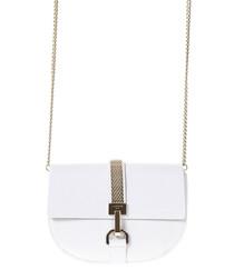 Lien white leather crossbody bag
