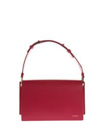 Pixelit fuchsia leather crossbody bag
