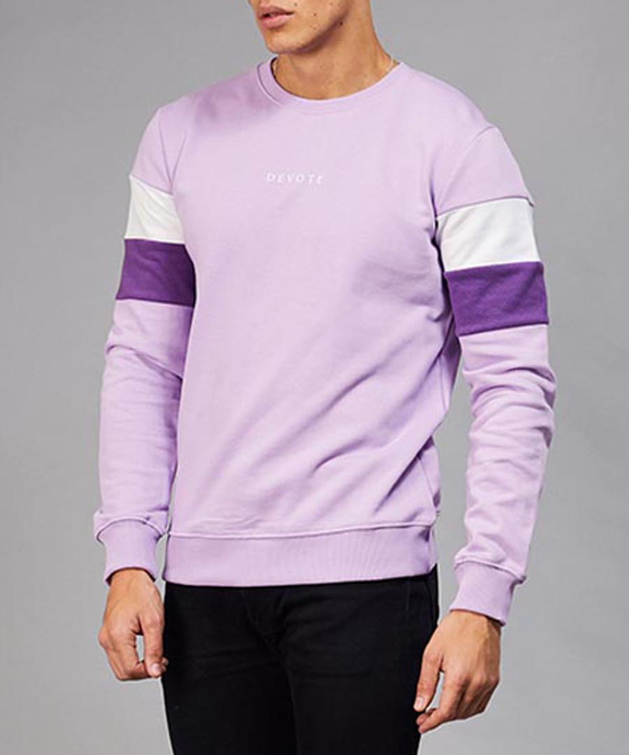 Lilac & purple cotton branded jumper Sale - devote