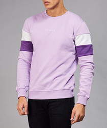 Lilac & purple cotton branded jumper