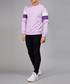 Lilac & purple cotton branded jumper Sale - devote Sale