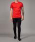 Red & black stripe detail cotton T-shirt Sale - criminal damage Sale