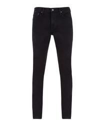 Ink black skinny jeans