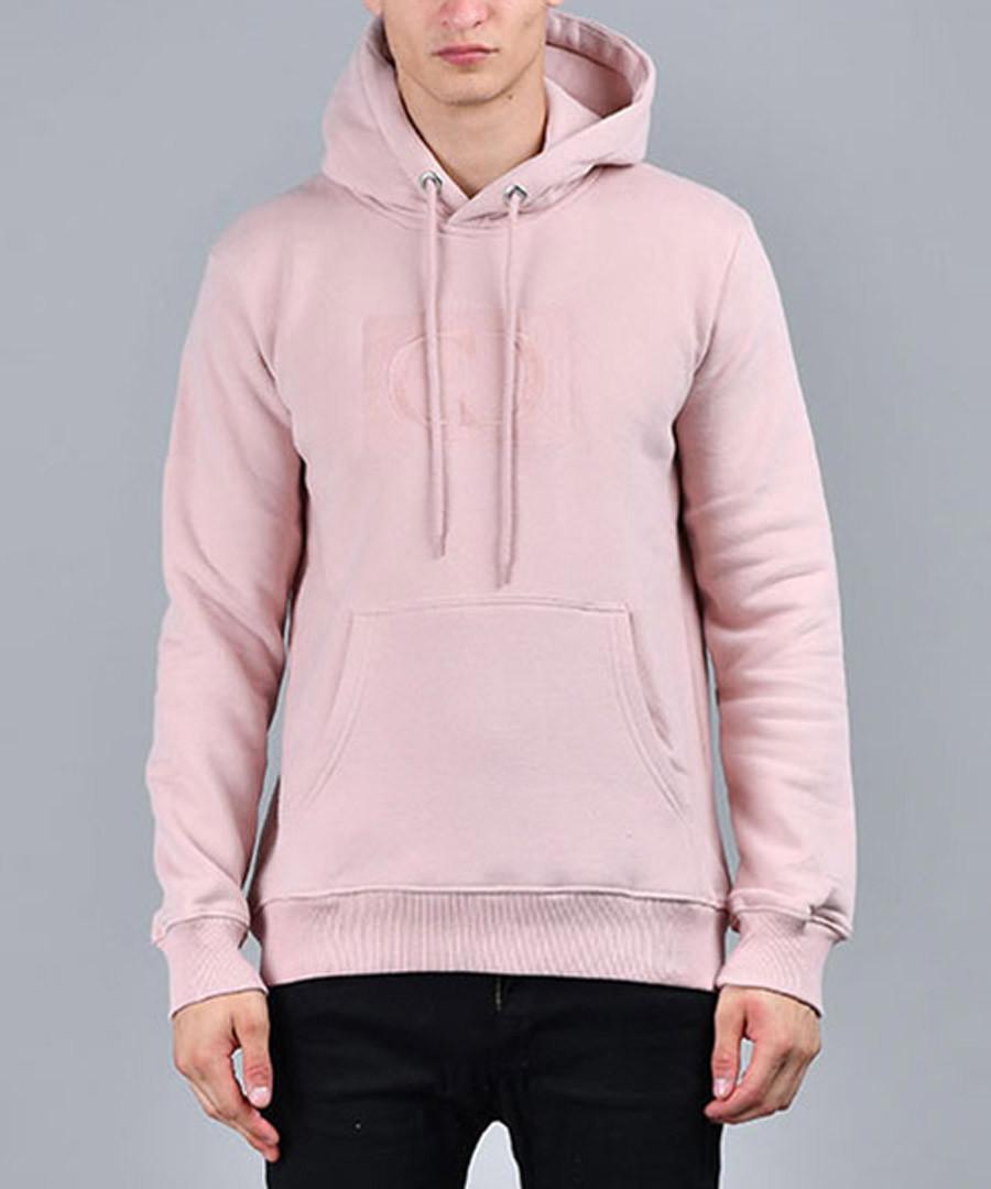Pink cotton blend logo hoodie Sale - criminal damage