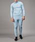 Blue cotton blend half-zip top Sale - criminal damage Sale