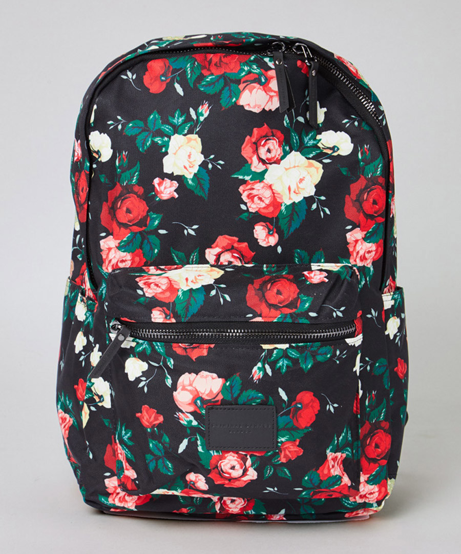 Black & red floral backpack Sale - criminal damage