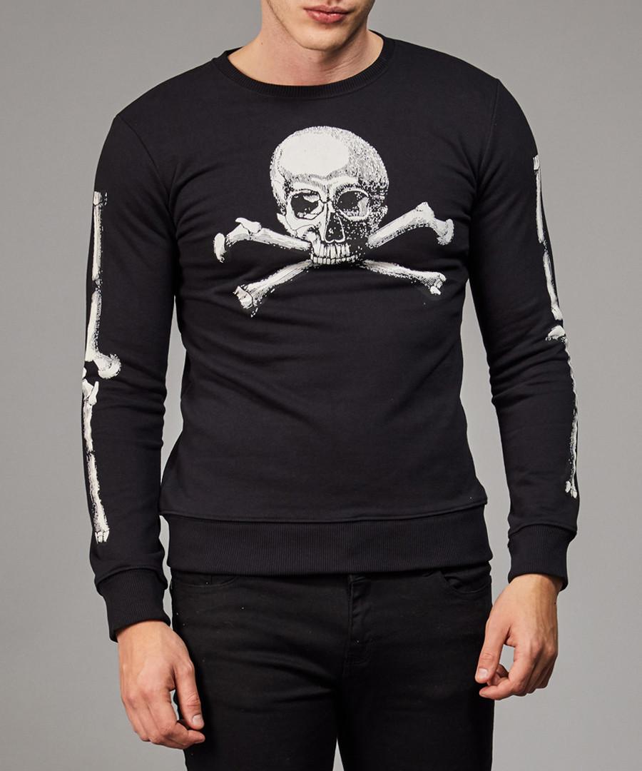 Black & white cotton skull print top Sale - criminal damage