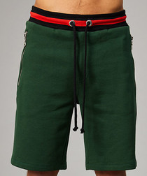 Olive & red pure cotton shorts