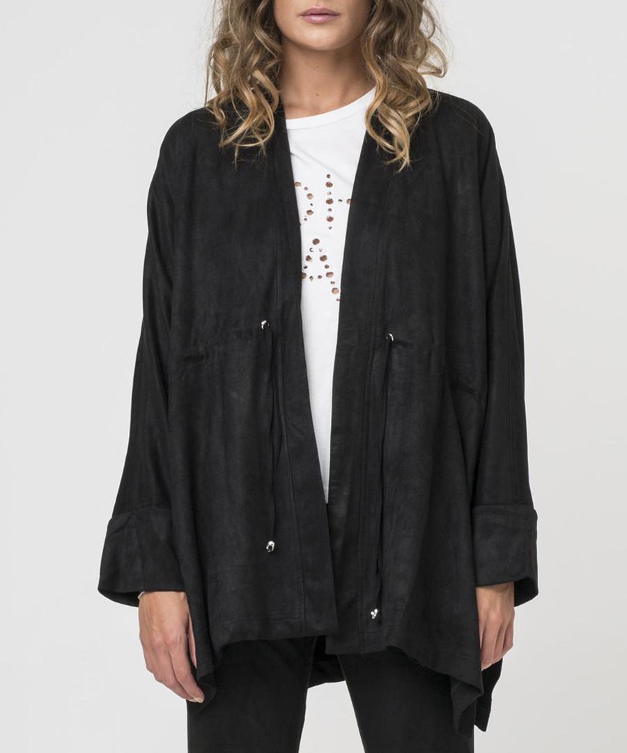 Jet black poncho jacket Sale - religion