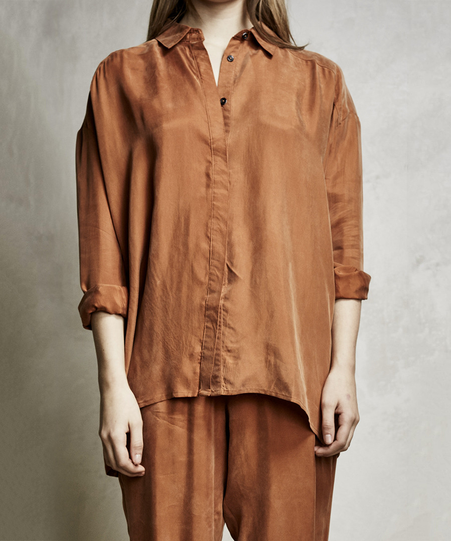 Cathay spice cupro button-up shirt Sale - religion