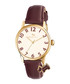 Brown leather & dog motif charm watch Sale - radley Sale