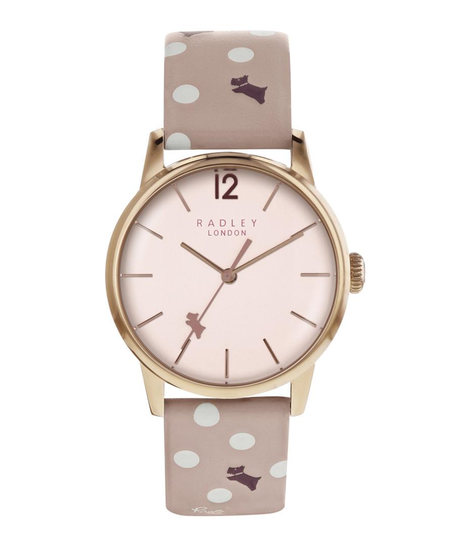 Vintage pink dog print leather watch Sale - radley london