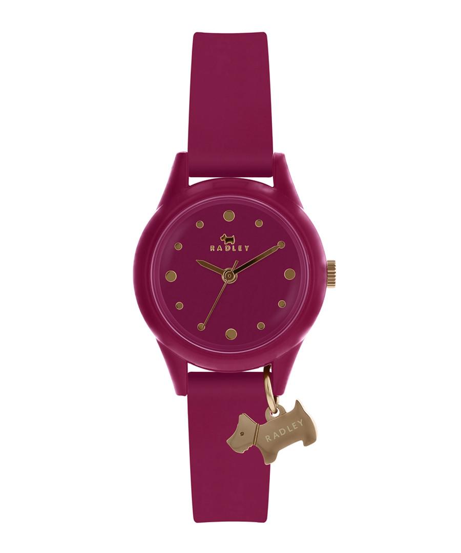 Purple silicone & stainless steel watch Sale - radley london
