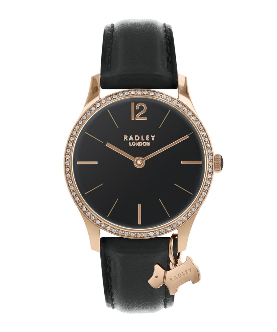 Rose gold-tone steel & leather watch Sale - radley london