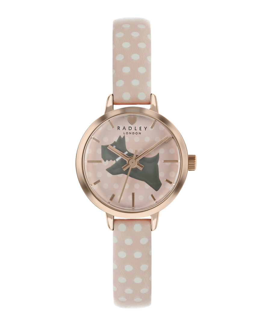 Spotted leather strap & steel dog watch Sale - radley london