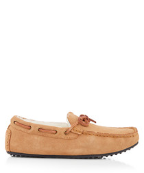 Wentworth tan leather moccasins