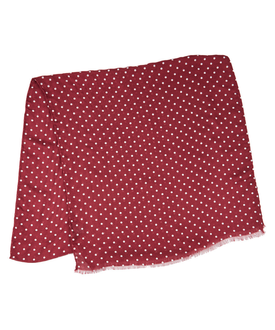 Red & white polka modal & cashmere scarf Sale - hackett