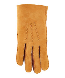Tan pure sheepskin gloves