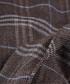 Brown plaid lana wool scarf Sale - hackett Sale